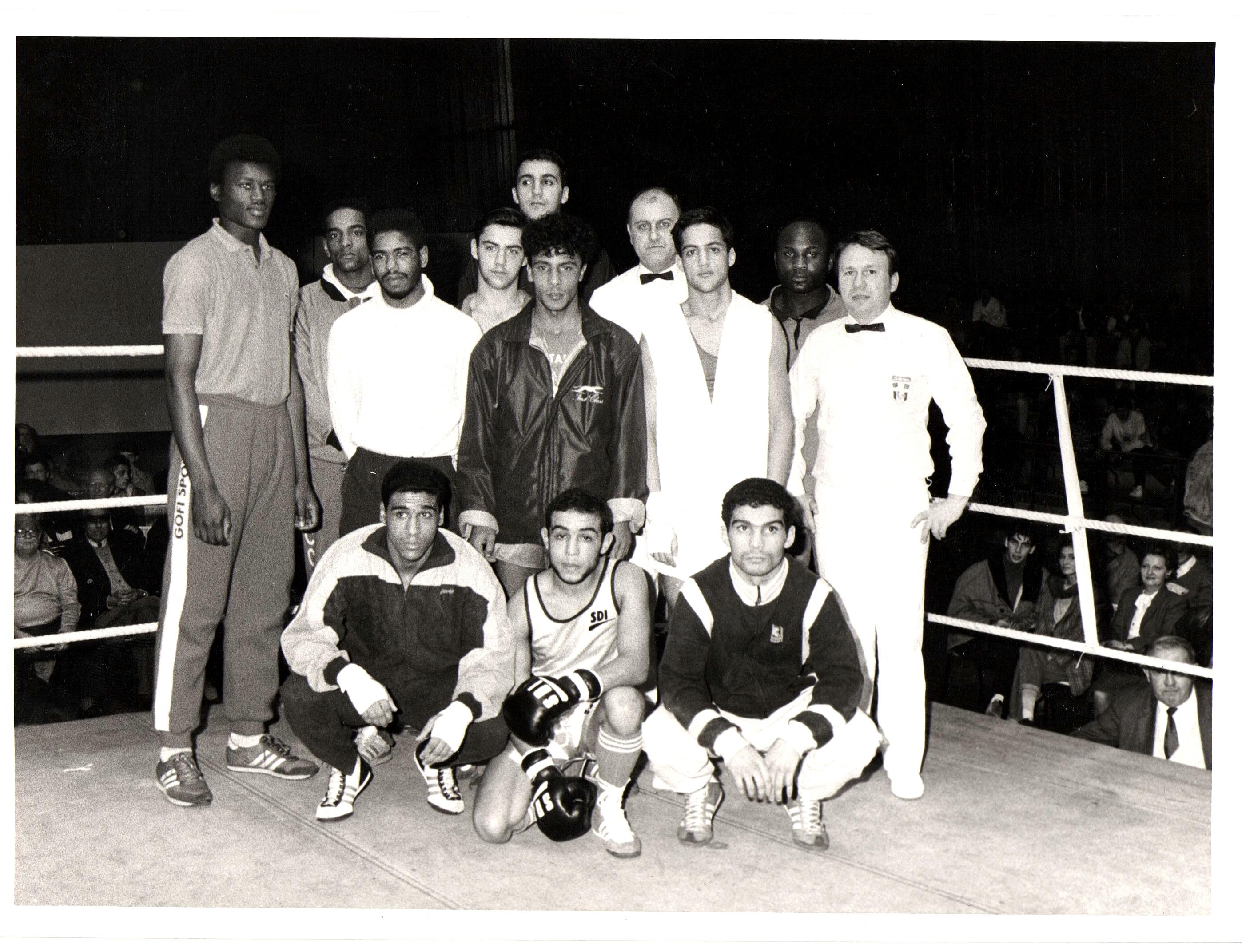 Les finalistes du Championnat de Paris 1986 à la Porte Pouchet. Une ambiance électrique, des combats populaires et spectaculaires...