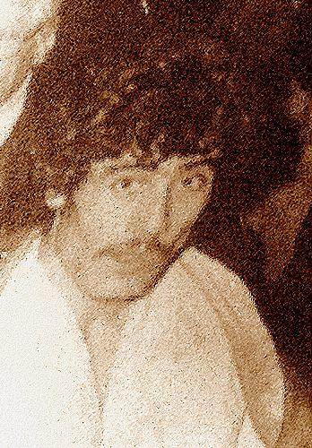 L'une des rares photos du regretté Abdel Laidoudi, serviette autour du cou après un combat.